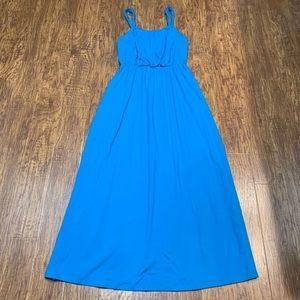 Loft turquoise teal maxi dress size medium